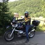 Marco con la sua nuova moto...usata!