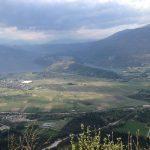 Panoramica sui laghi di Caldonazzo e Levico.